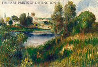 Landscape at Vetheuil painted by French Impressionist artist Pierre Auguste Renoir in 1890