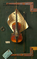 A premium print of The Old Violin painted by William Michael Harnett in 1886