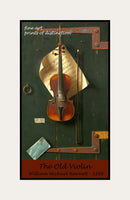 A premium print of The Old Violin painted by artist William Michael Harnett in 1886