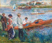 Oarsmen at Chatou painted by the famous French Impressionist artist Pierre Auguste Renoir in 1879