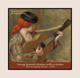 Young Spanish Woman with a Guitar painted by Auguste Pierre Renoir in 1898 premium poster