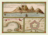 1705 Map of The Cape of Good Hope by Nicolas de Fer