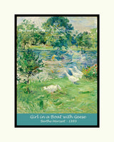Morisot Berthe - Girl in a Boat with Geese Premium Poster