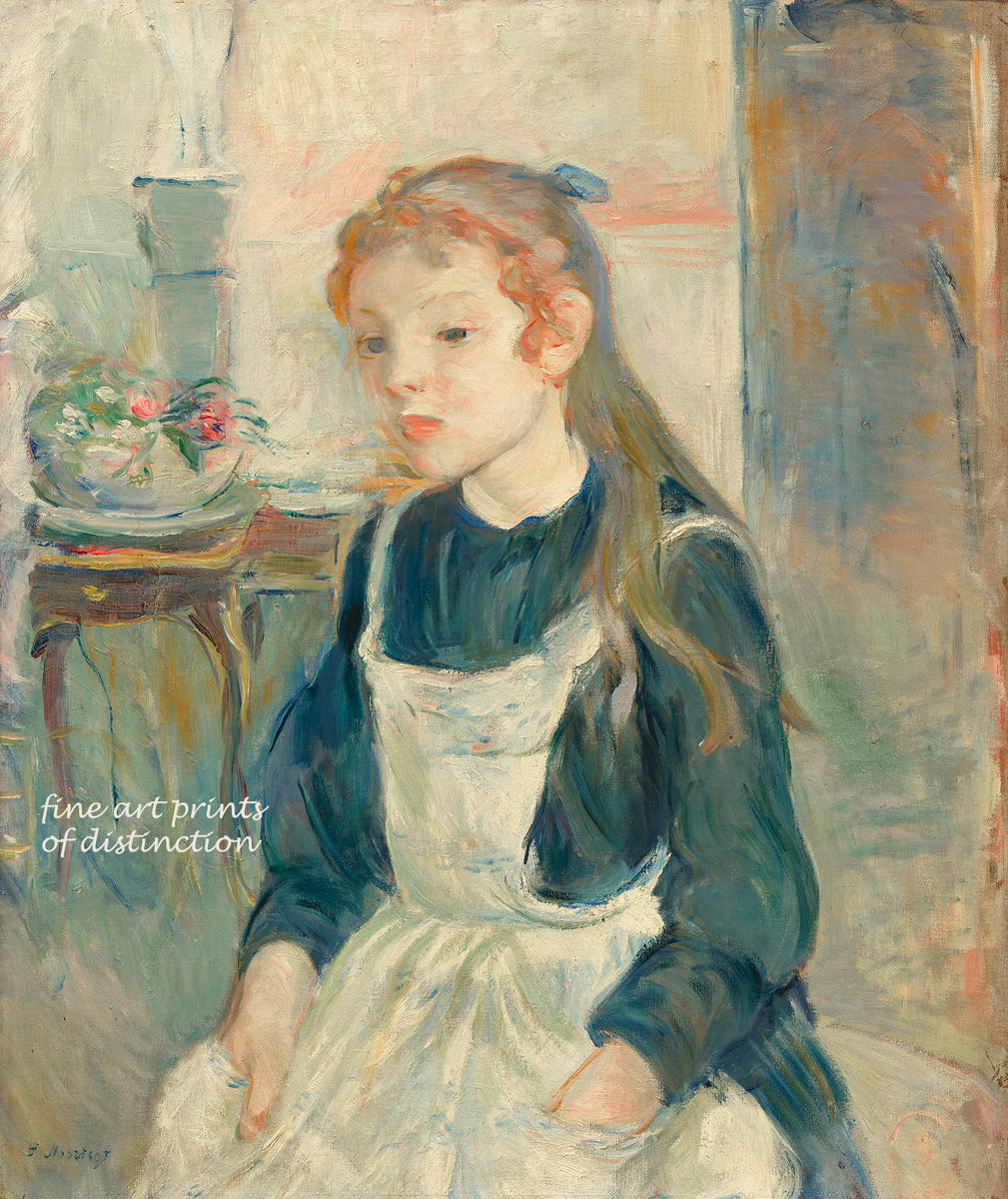 Young Girl with an Apron painted by Berthe Morisot Premium Print