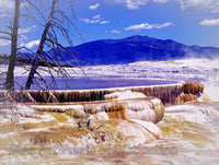 Mammoth Hot Springs in Yellowstone National Park in WY