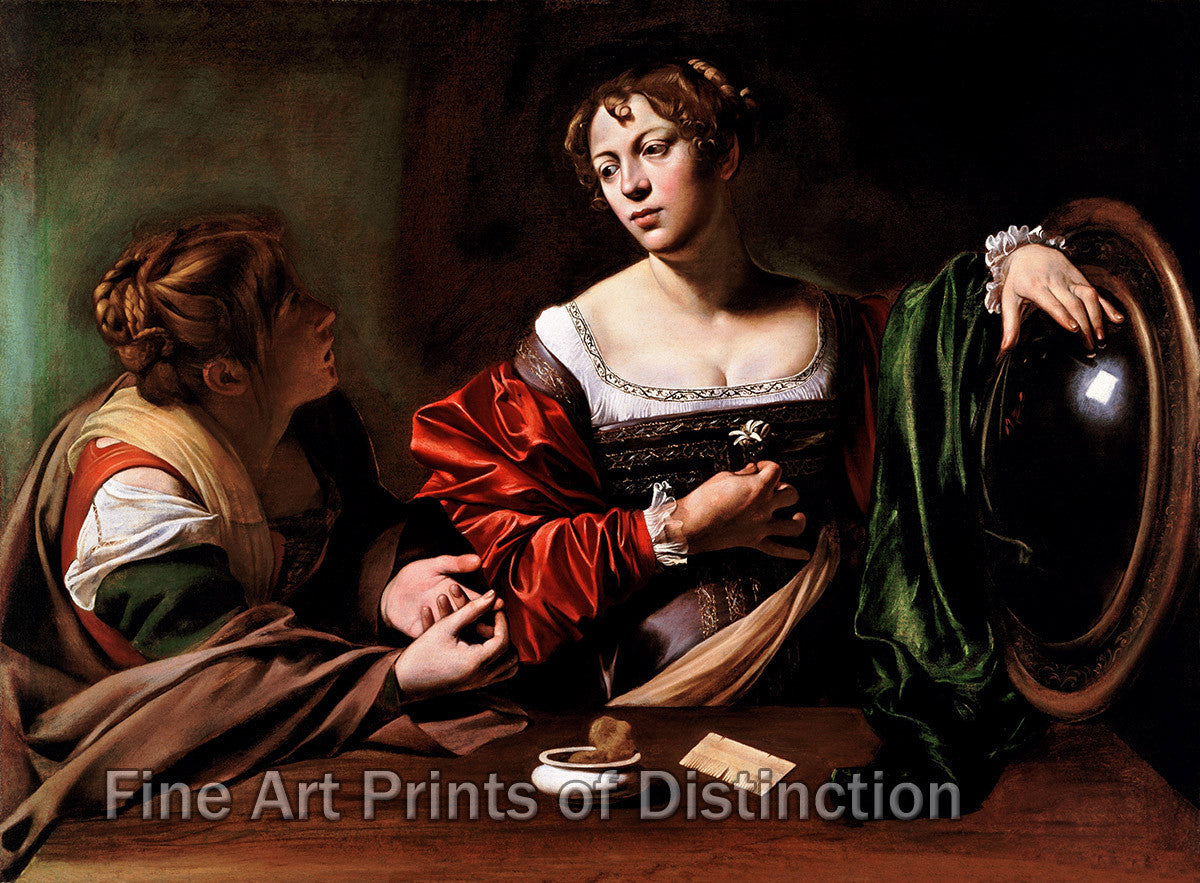 Martha and Mary Magdalene by Caravaggio