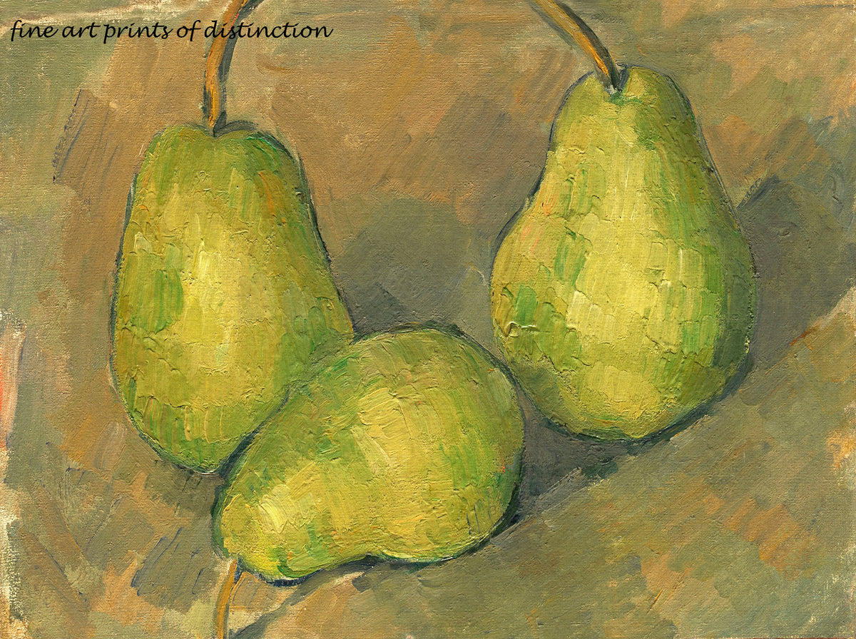 A premium print of Three Pears painted by Paul Cezanne in 1879