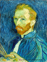 A premium print of Self Portrait 1889 painted by Vincent Van Gogh