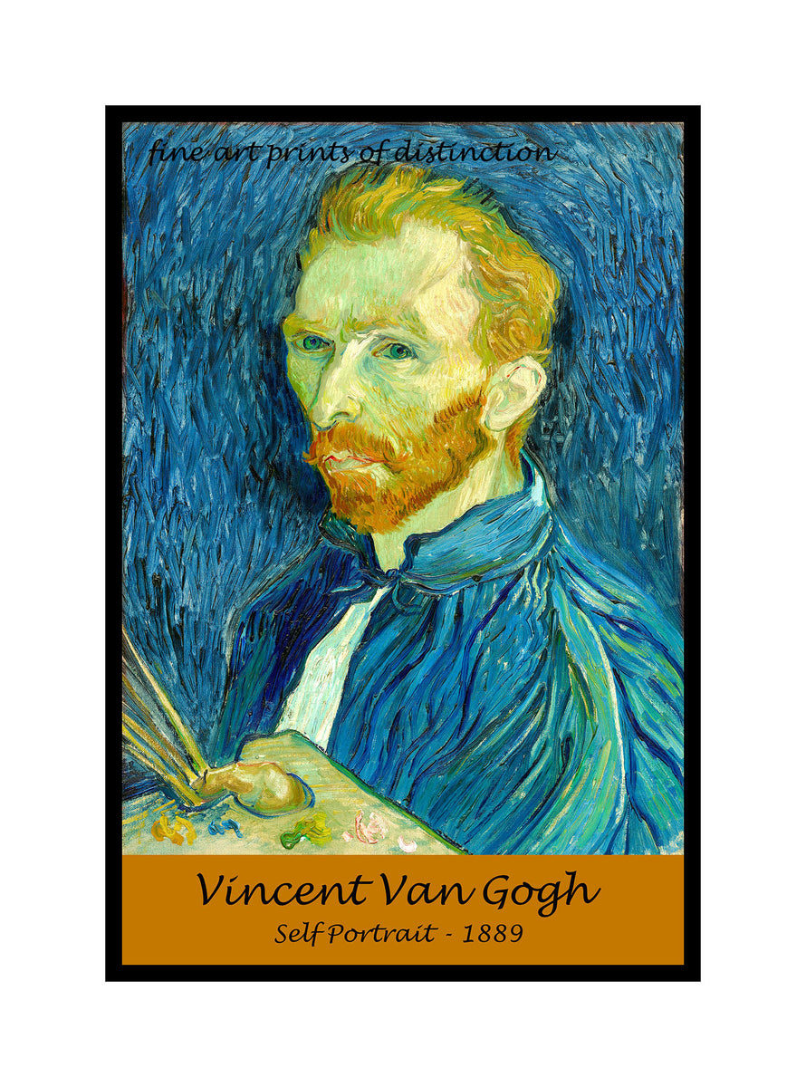 A premium quality poster of Self Portrait 1889 painted by Vincent Van Gogh