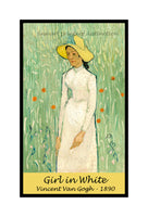 A premium poster of Girl in White painted by Vincent Van Gogh in 1890