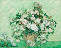 A premium print of Roses painted by Vincent Van Gogh in 1890
