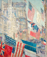 A premium print of Allies Day, May 1917 painted by Childe Hassam