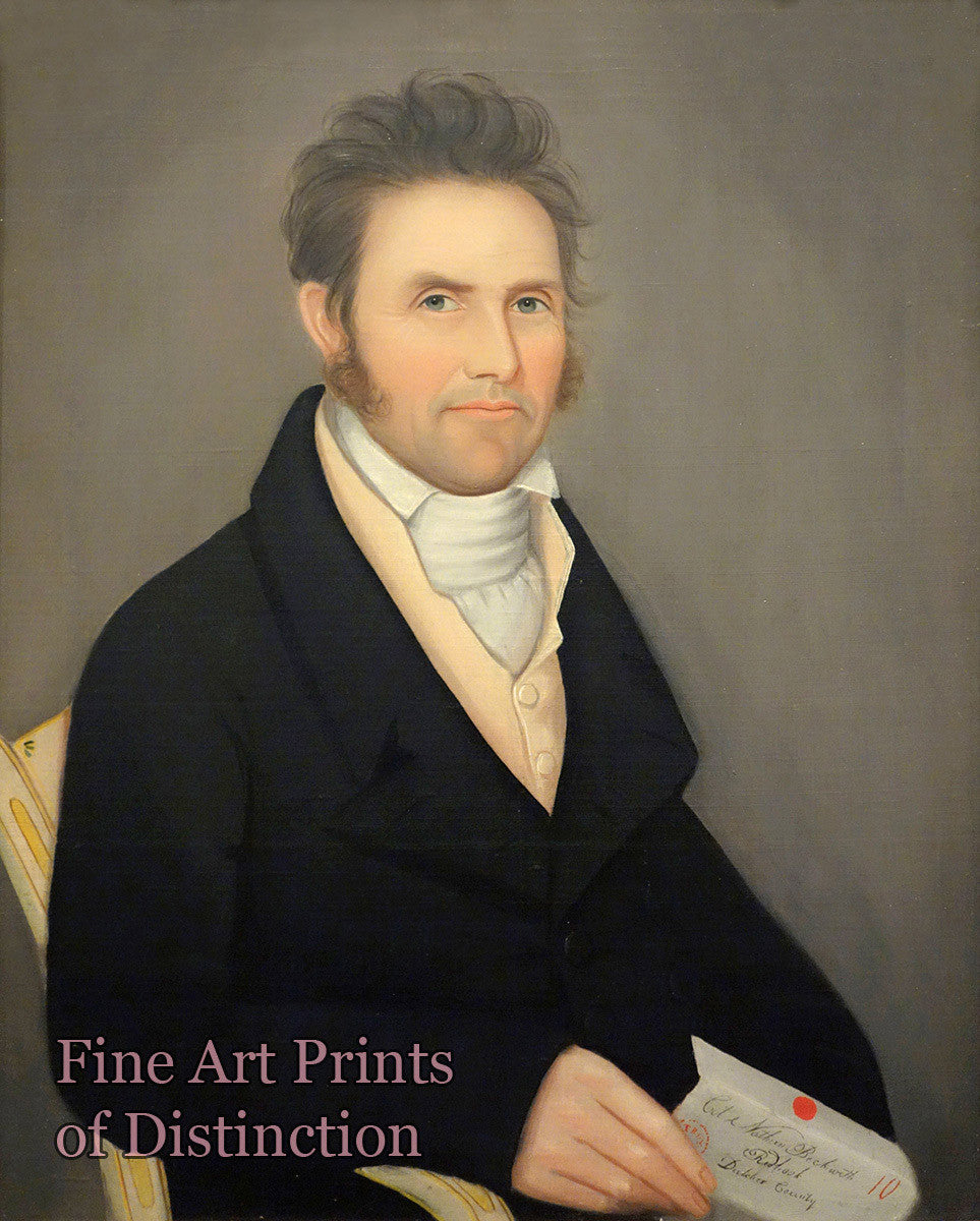 Phillips, Ammi - Colonel Nathan Beckwith Folk Art Portrait