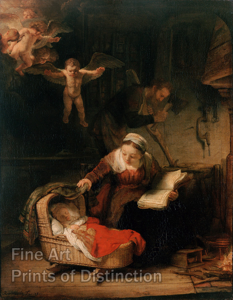 The Holy Family with Angels by Rembrandt