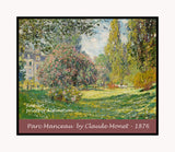 A premium poster of Parc Monceau painted by Claude Monet in 1876