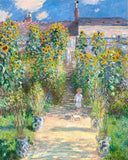 A premium print of The Artist's Garden at Vetheuil painted by the French Impressionist artist Claude Monet in 1881