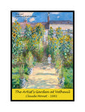 A premium poster of The Artist's Garden at Vetheuil painted by the artist Claude Monet in 1881