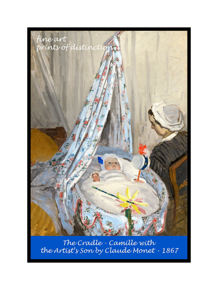 A premium poster of The Cradle - Camille with the Artist's Son, Jean painted by Claude Monet in 1867