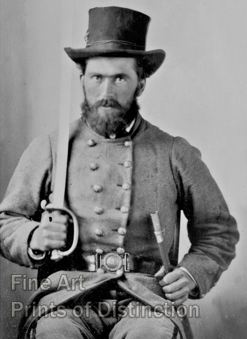 Portrait of Private Luther Hart Clapp of Company C of the 37th Virginia Infantry Regiment