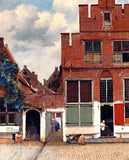 The Little Street View of Houses in Delft by Jan van Vermeer