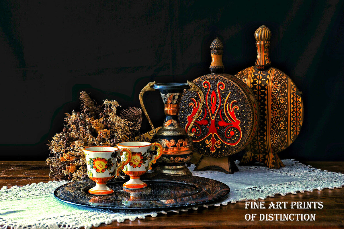 Still Life with a Turkish Table premium art print