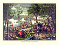 The Battle of Chancellorsville by Kurz and Allison