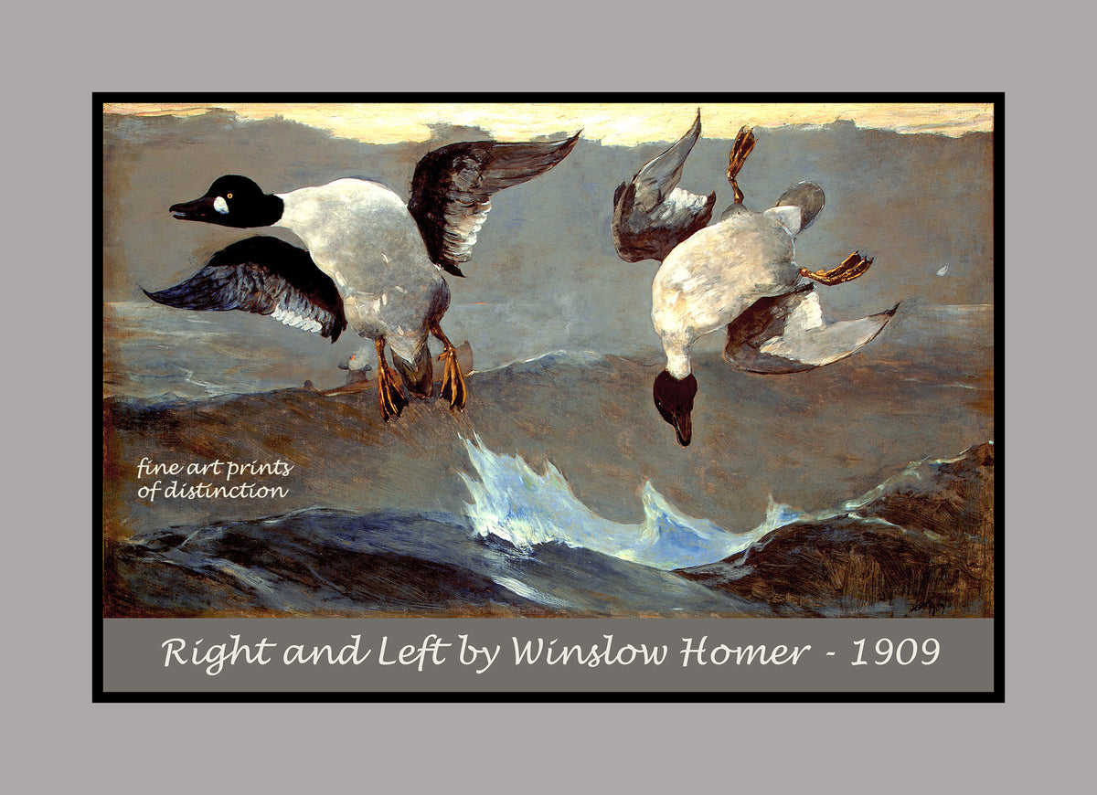 Right and Left painted by Winslow Homer premium poster