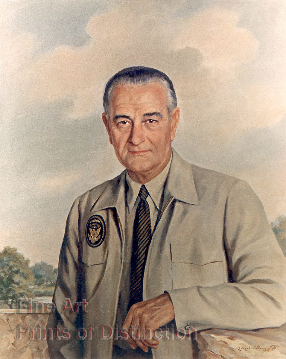 President Lyndon Baines Johnson by Elizabeth Shoumatoff