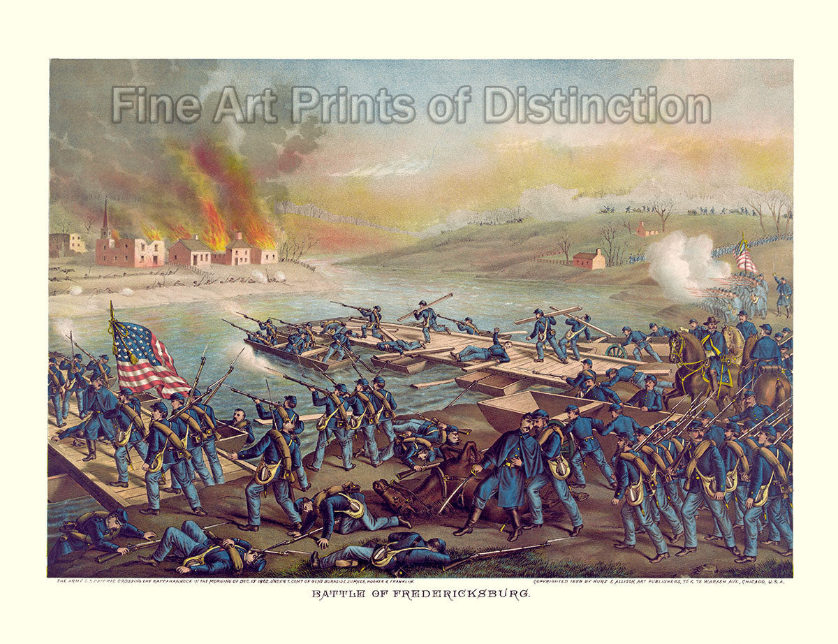 The Battle of Fredericksburg by Kurz and Allison