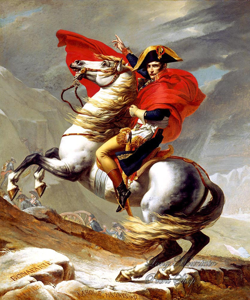 David, Jacques Louis  - Napoleon Crossing the Alps Fine Art Print