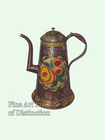 White, Wayne - Coffee Pot with PA Dutch Design