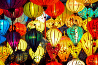 Colorful Group of Chinese Lanterns premium still life print