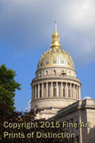 WV Capitol Building Close up of Golden Dome from the West Wing Art Print