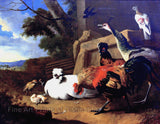 The Poultry Yard by Melchior d'Hondecoeter