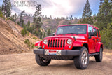 Jeep Wrangler Red Off Road Vehicle premium print