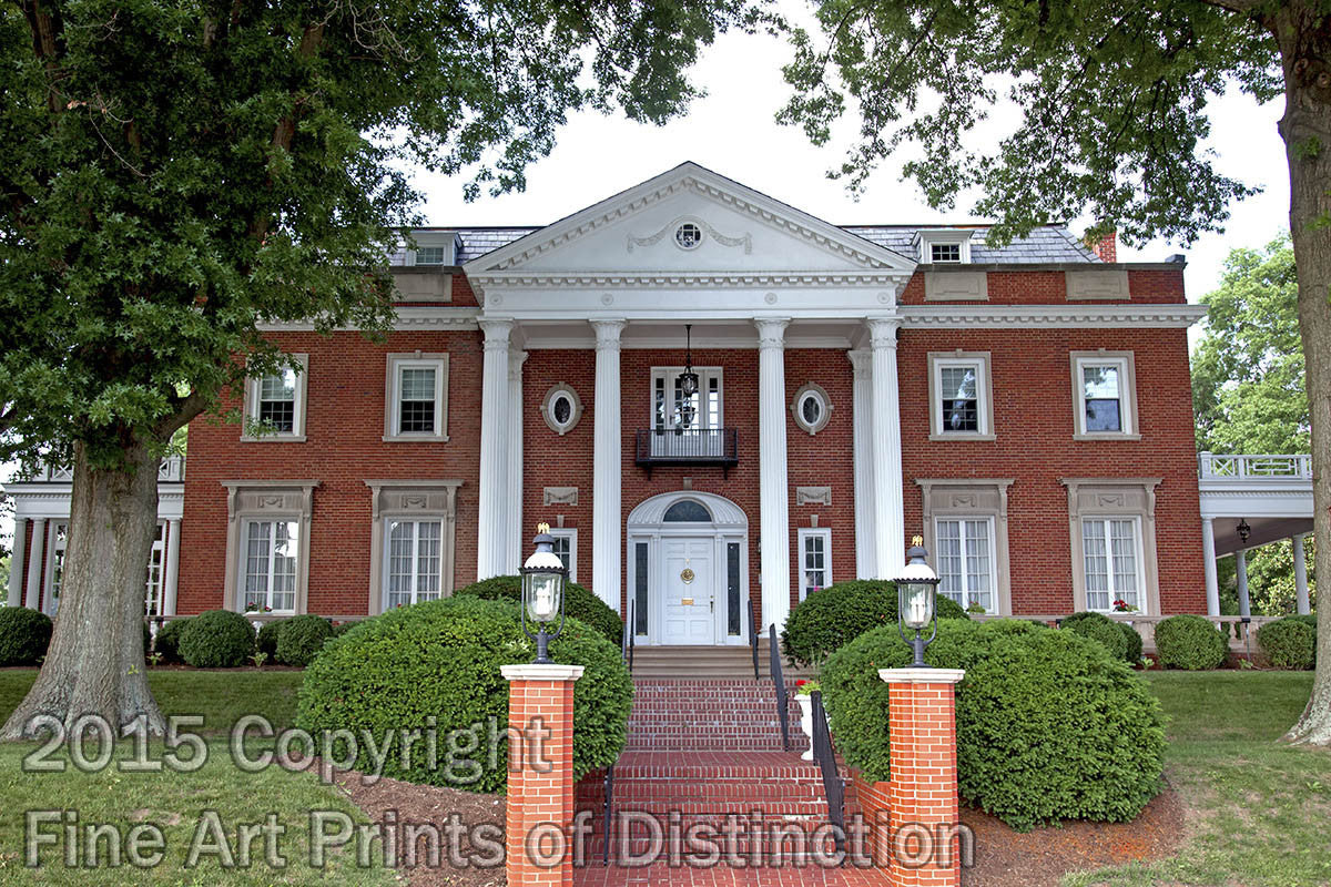 WV Governor's Mansion at the Capitol Complex in Charleston Art Print