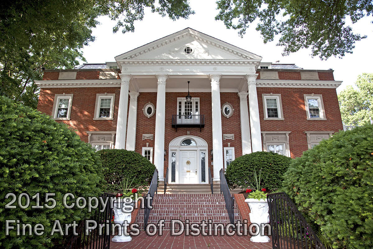WV Governor's Mansion in Dappled Sunshine Art Print