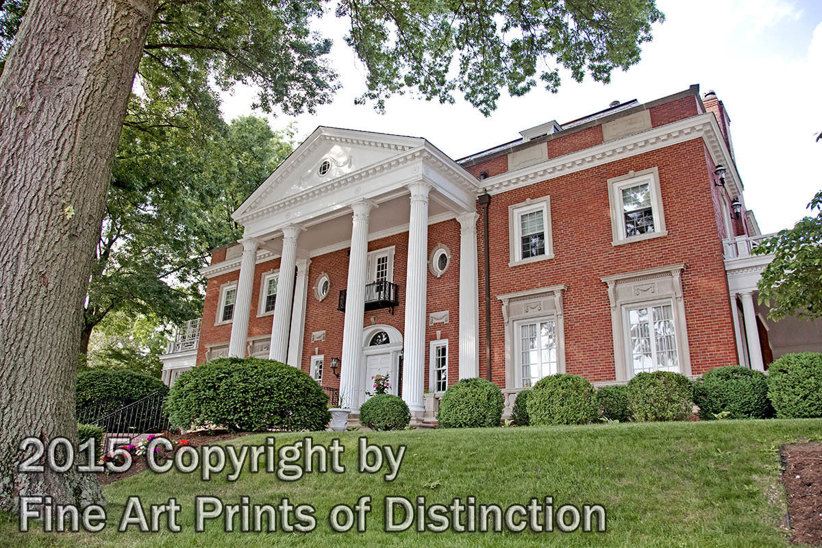 WV Governor's Mansion a Side View Art Print