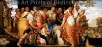 The Anointing of David by Paolo Veronese Art Print