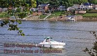 Boating on the Kanawha River in Charleston West Virginia Art Print