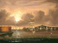 Chambers, Thomas - Threatening Sky over the Bay of New York
