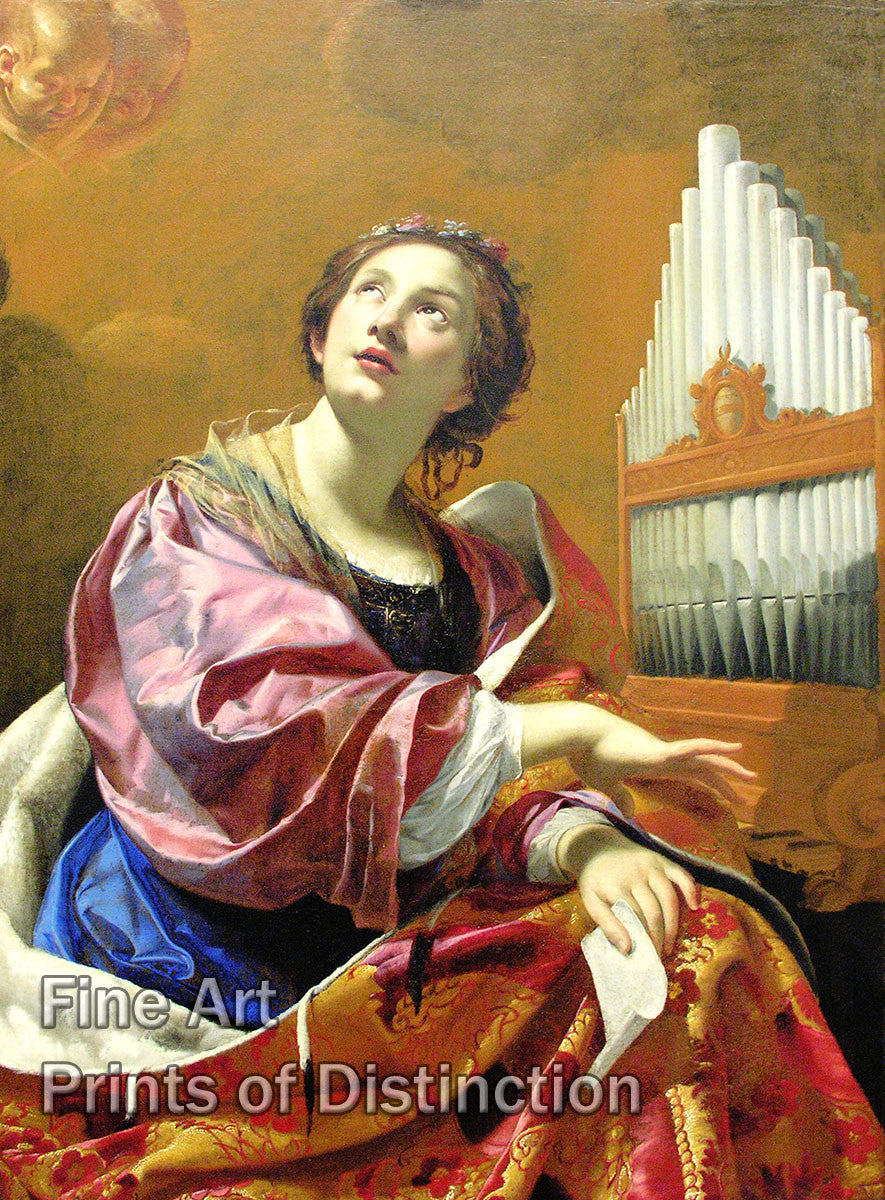 Saint Cecila by Simon Vouet