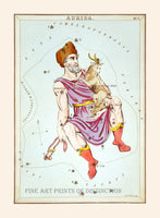 Auriga Constellation by Jehoshapat Aspin Art Print