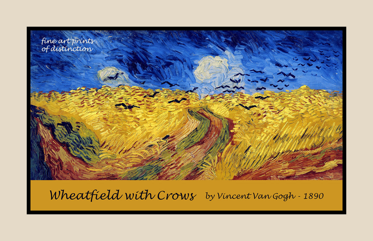 Wheatfield with Crows painted by Vincent Van Gogh premium poster