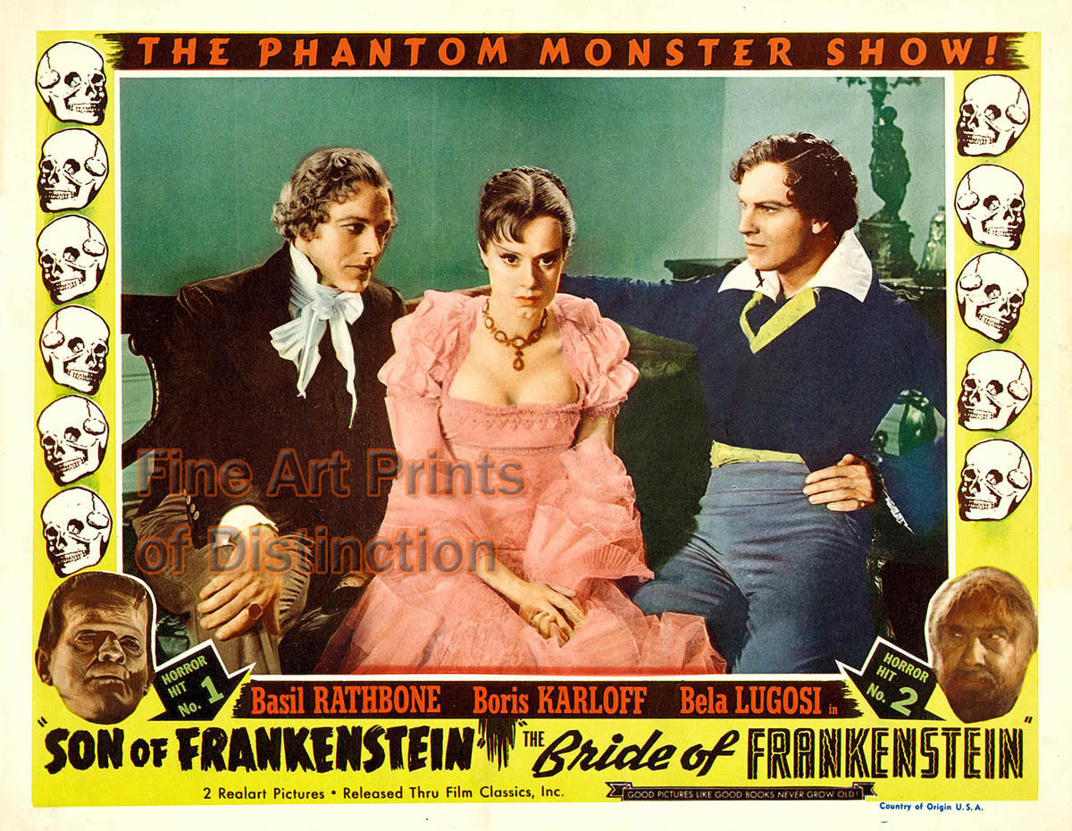 Son of Frankenstein and Bride of Frankenstein Movie Poster