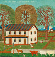 Farmhouse in Mahantango Valley PA, painted in the late 19th century by an anonymous American folk artist