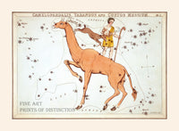 Camelopardalis, Tarandus and Custos Messium Constellations by Jehoshaphat Aspin