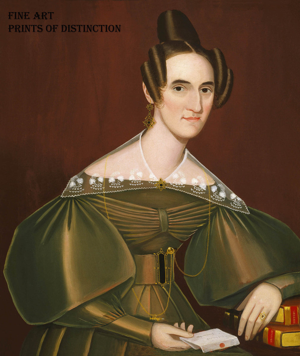 Jeannette Woolley painted by the naive American artist Ammi Phillips around 1838