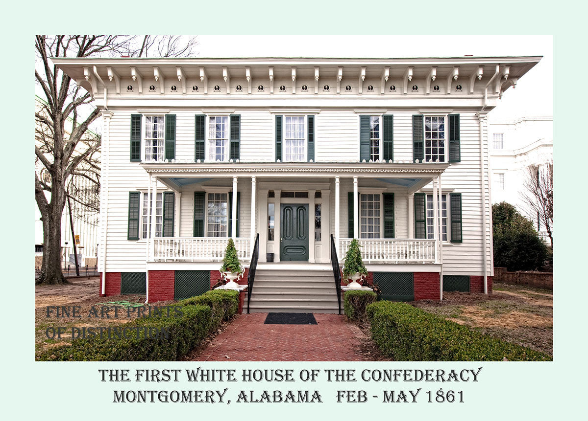 Confederate White House in Montgomery AL completed in poster style