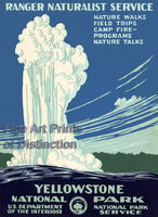 Yellowstone National Park Tourism Poster